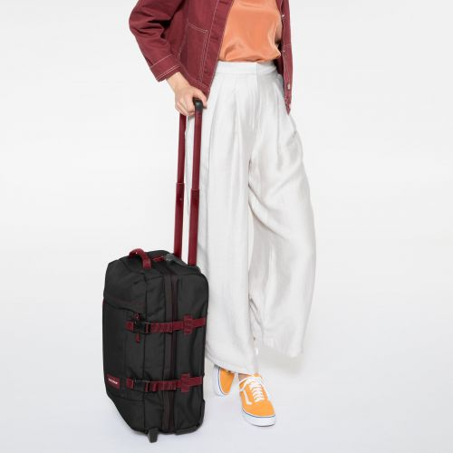 Tranverz S Blakout Stripe Red Luggage by Eastpak - view 0