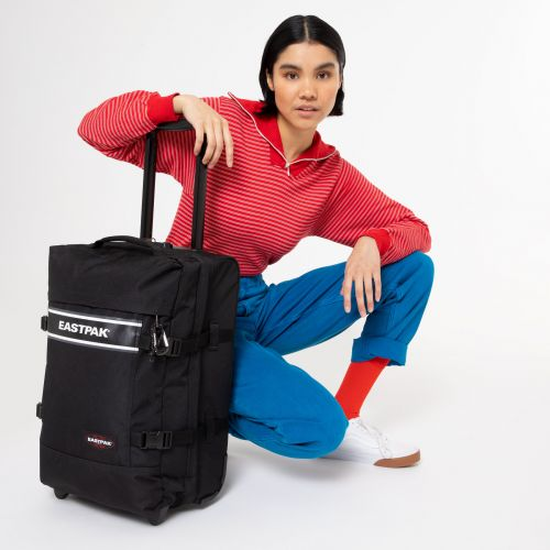 Tranverz S Black Snap Luggage by Eastpak
