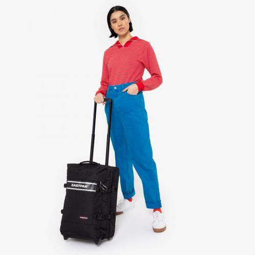 Tranverz S Black Snap Luggage by Eastpak