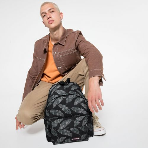 Padded Pak'r® Brize Leaves Black Backpacks by Eastpak - view 0