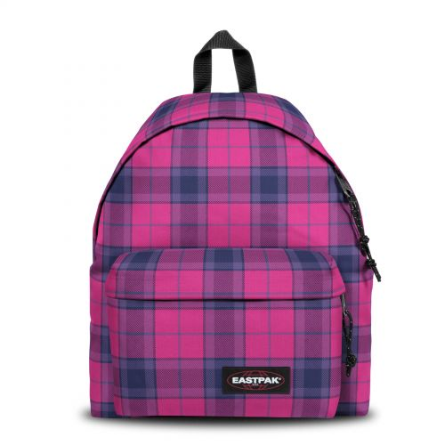 Padded Pak'R® Checked Fuchsia Backpacks by Eastpak