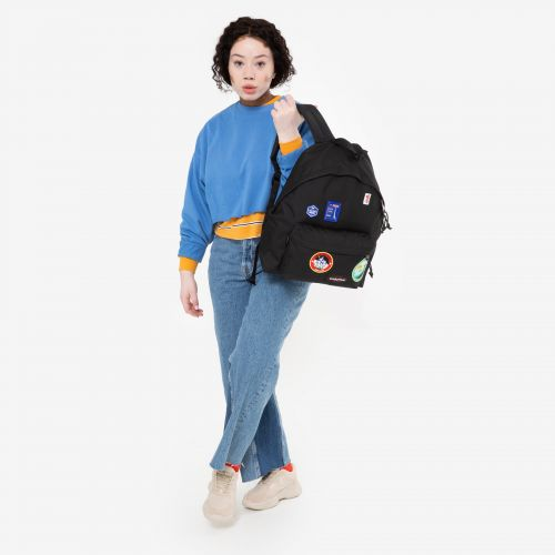 Padded Pak'R® Patched Black Backpacks by Eastpak