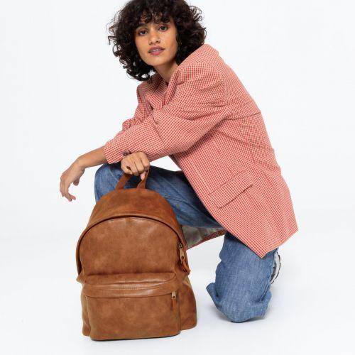 Padded Pak'R® Grained Camel Backpacks by Eastpak