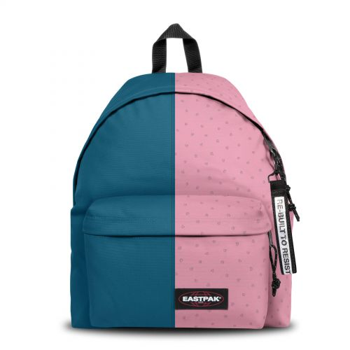 Re-built: Recycled Padded Pak'r®Humble Blue/Cubes Pink Backpacks by Eastpak - view 1