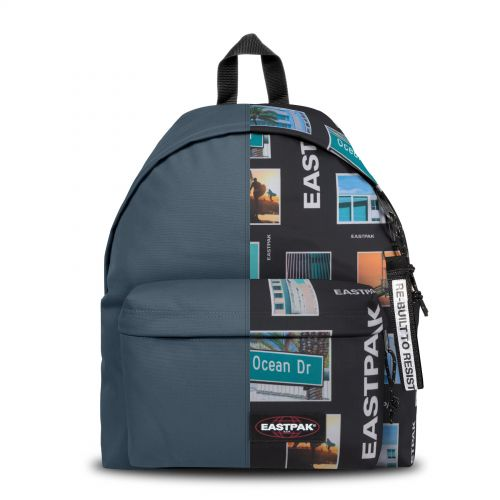 Re-built: Recycled Padded Pak'r®Ocean Blue/California Bold Backpacks by Eastpak - view 1