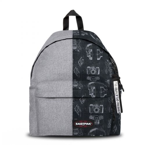 Re-built: Recycled Padded Pak'r®Sunday Grey/Tech Black Backpacks by Eastpak - view 1