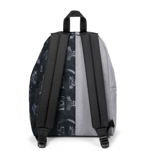 Re-built: Recycled Padded Pak'r®Sunday Grey/Tech Black Backpacks by Eastpak - view 4