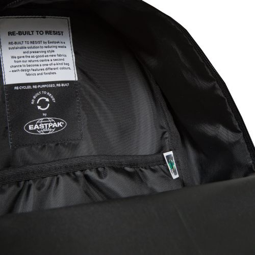 Re-built: Recycled Padded Pak'r®Sunday Grey/Tech Black Backpacks by Eastpak - view 11
