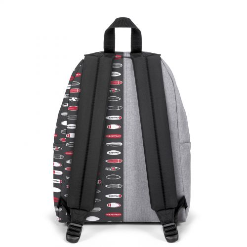 Re-built: Recycled Padded Pak'r®Sunday Grey/Surf Grid Backpacks by Eastpak - view 4