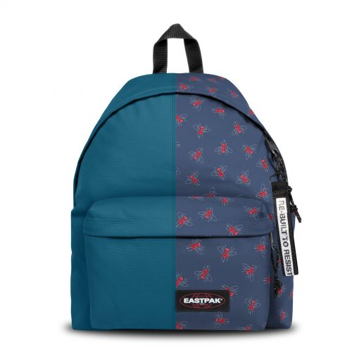Re-built: Recycled Padded Pak'r®Tribe Blue/Beatle Pin Backpacks by Eastpak - view 1