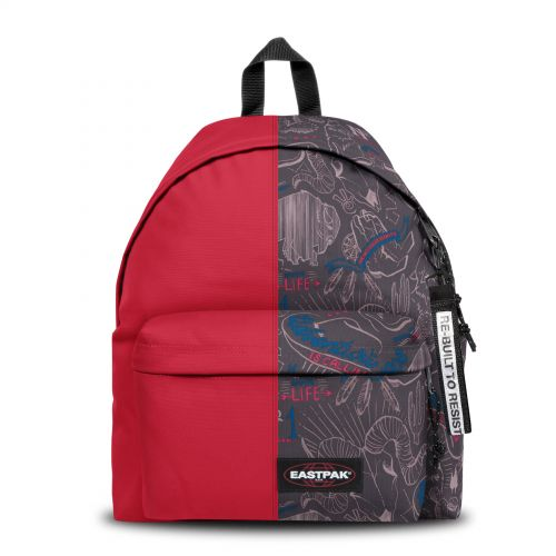 Re-built: Recycled Padded Pak'r®Sailor Red/Sketch Life Backpacks by Eastpak - view 1