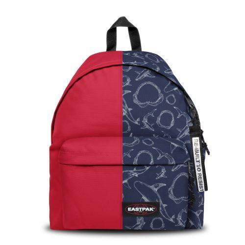 Re-built: Recycled Padded Pak'r®Sailor Red/Deep Ocean Backpacks by Eastpak - view 1