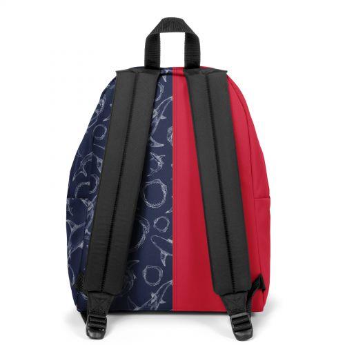 Re-built: Recycled Padded Pak'r®Sailor Red/Deep Ocean Backpacks by Eastpak - view 4