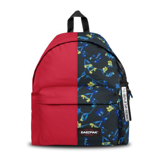 Re-built: Recycled Padded Pak'r®Sailor Red/Fluo Flower Backpacks by Eastpak - view 1