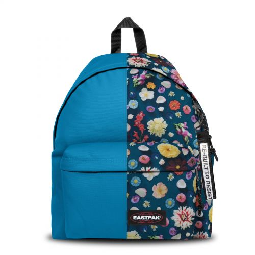 Re-built: Recycled Padded Pak'r®Sea Blue/Spring Flowers Backpacks by Eastpak - view 1
