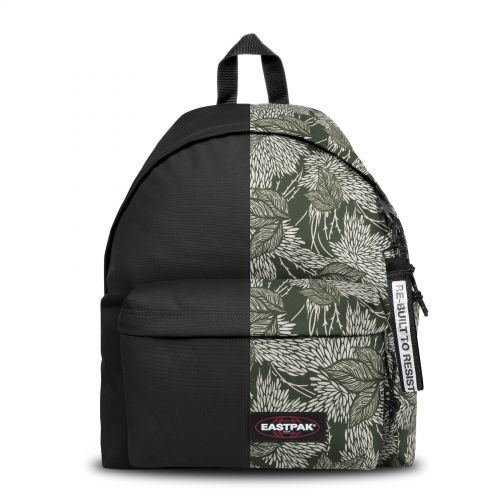 Re-built: Recycled Padded Pak'r®Black/Leaf Tone Backpacks by Eastpak - view 1
