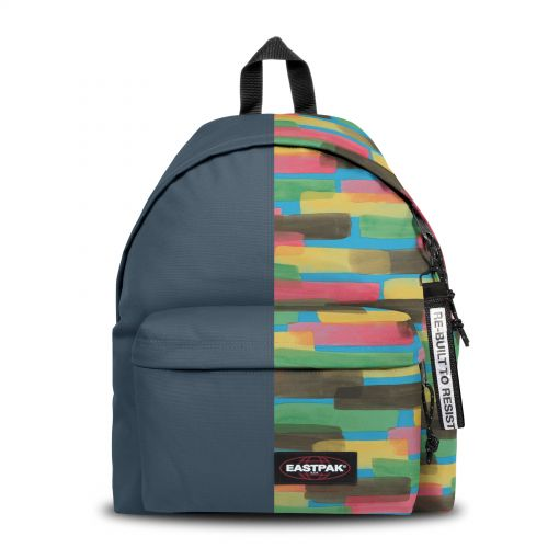 Re-built: Recycled Padded Pak'r®Navy/Paint Strokes Backpacks by Eastpak - view 1