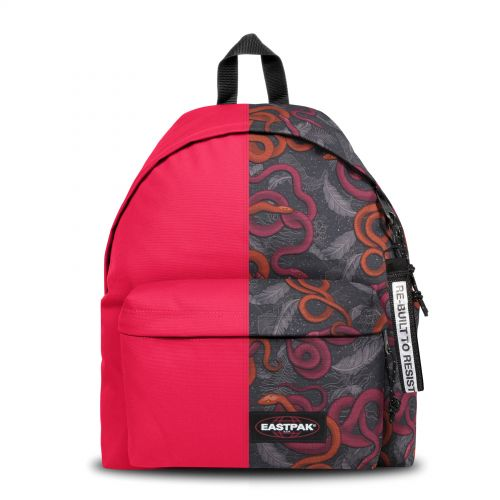 Re-built: Recycled Padded Pak'r®Ruby Pink/Snake Leaf Backpacks by Eastpak - view 1