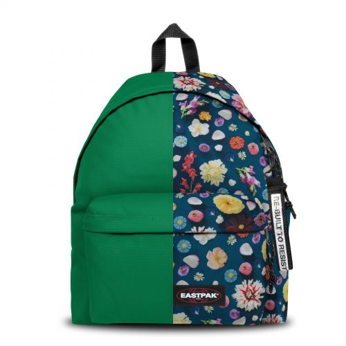 Re-built: Recycled Padded Pak'r®Forest Green/Spring Flowers Backpacks by Eastpak - view 1