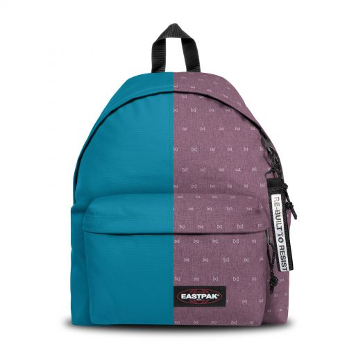 Re-built: Recycled Padded Pak'r®Pool Blue/Mini Bows Backpacks by Eastpak - view 1