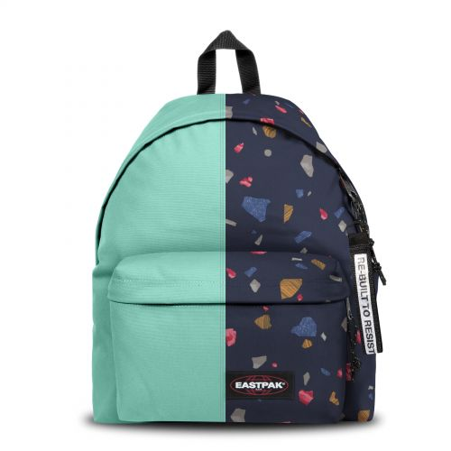 Re-built: Recycled Padded Pak'r®Spear Mint/Piece Print Backpacks by Eastpak - view 1