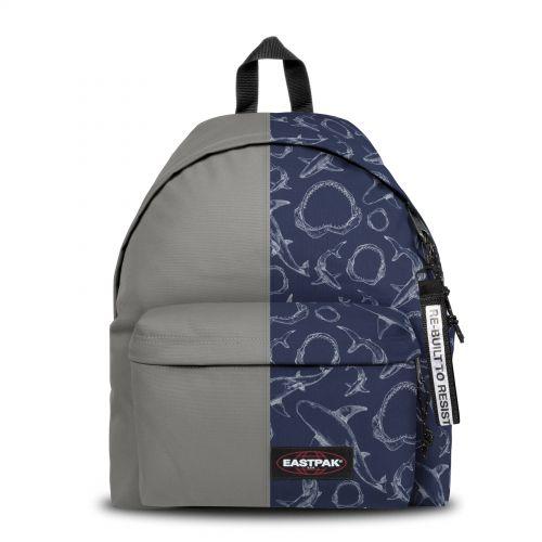 Re-built: Recycled Padded Pak'r®Grey/Ocean Print Backpacks by Eastpak - view 1