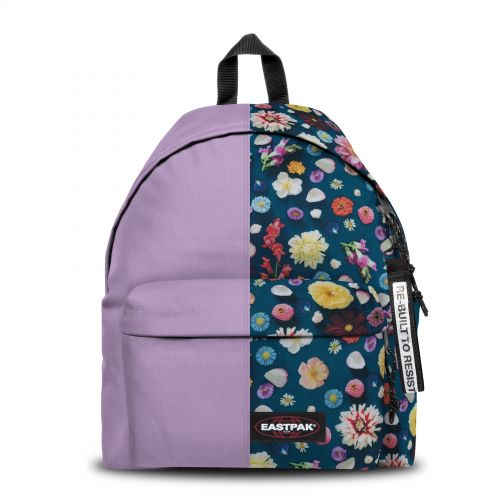 Re-built: Recycled Padded Pak'r®Mauve/Spring Flowers Backpacks by Eastpak - view 1