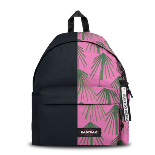 Re-built: Recycled Padded Pak'r®Dark Night/Pink Tropic Backpacks by Eastpak - view 1