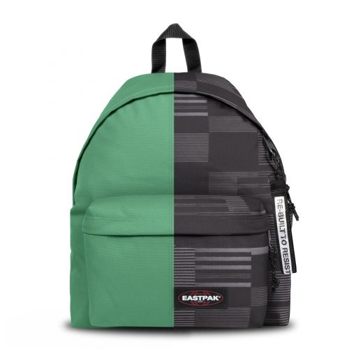 Re-built: Recycled Padded Pak'r®Summer Green/Modern Lines Backpacks by Eastpak - view 1
