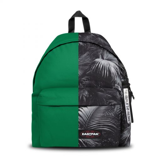 Re-built: Recycled Padded Pak'r®Jungle Green/Tranquil Palms Backpacks by Eastpak - view 1
