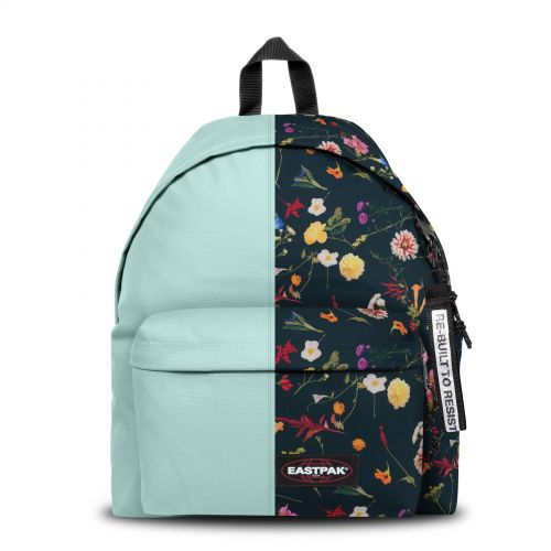 Re-built: Recycled Padded Pak'r®Light Blue/Black Floral Print Backpacks by Eastpak - view 1