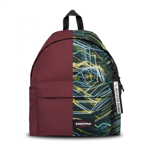 Re-built: Recycled Padded Pak'r®Crimson Burgundy/Eclipse Backpacks by Eastpak - view 1