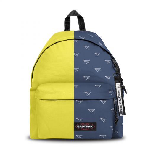 Re-built: Recycled Padded Pak'r®Citrus Candy/Paper Planes Backpacks by Eastpak - view 1