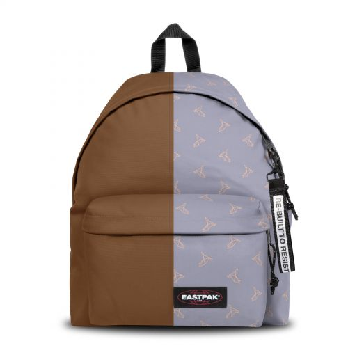 Re-built: Recycled Padded Pak'r®Brown/Origami Blue Birds Backpacks by Eastpak - view 1