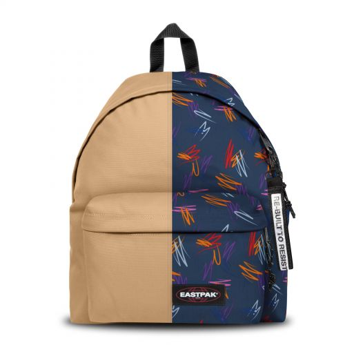 Re-built: Recycled Padded Pak'r®Light Cream/Funky Scribles Backpacks by Eastpak - view 1