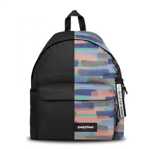 Re-built: Recycled Padded Pak'r® Black/Dusty Strokes Backpacks by Eastpak - view 1