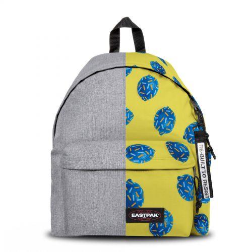 Re-built: Recycled Padded Pak'r® Dark Denim/Happy lemon Backpacks by Eastpak - view 1