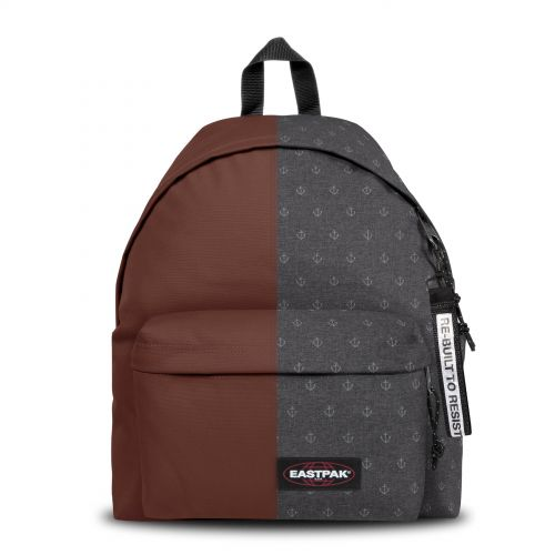 Re-built: Recycled Padded Pak'r® Rusty Brown/Sailor Grey Backpacks by Eastpak - view 1