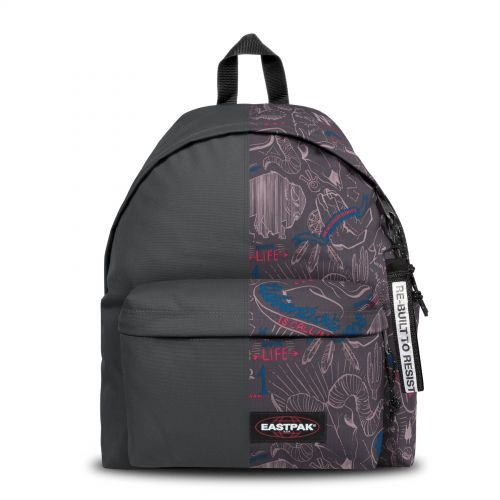 Re-built: Recycled Padded Pak'r® Metal Grey/Red Wolves Backpacks by Eastpak - view 1