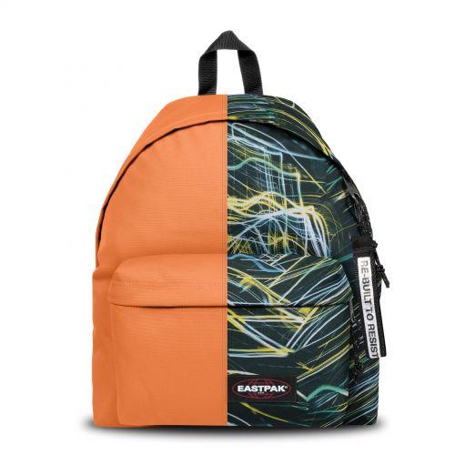 Re-built: Recycled Padded Pak'r® Orange/Neon Lights Backpacks by Eastpak - view 1
