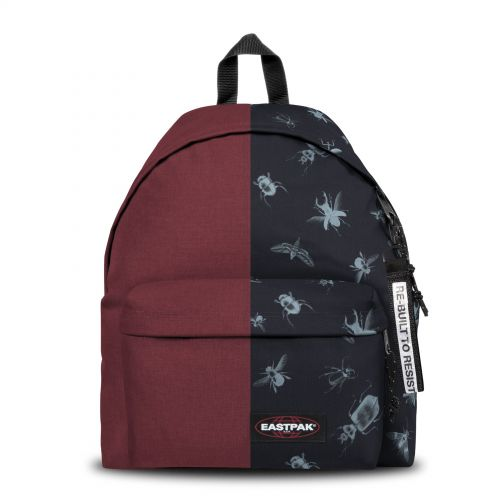 Re-built: Recycled Padded Pak'r® Crafty Wine/Beatle Black Backpacks by Eastpak - view 1