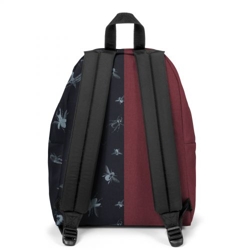 Re-built: Recycled Padded Pak'r® Crafty Wine/Beatle Black Backpacks by Eastpak - view 4