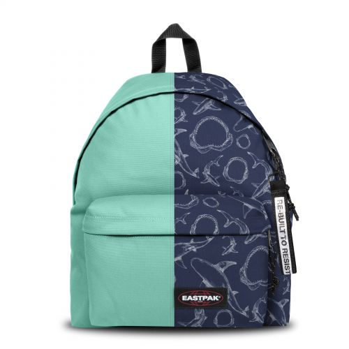 Re-built: Recycled Padded Pak'r® Turquoise/Shark Blue Backpacks by Eastpak - view 1