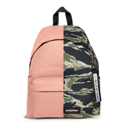Re-built: Recycled Padded Pak'r® Dusty Pink/Camoe Backpacks by Eastpak - view 1