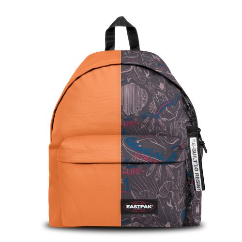 Re-built: Recycled Padded Pak'r® Orange/Red Wolves Backpacks by Eastpak - view 1