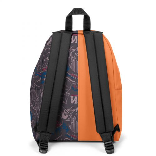 Re-built: Recycled Padded Pak'r® Orange/Red Wolves Backpacks by Eastpak - view 4