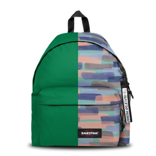 Re-built: Recycled Padded Pak'r® Grass Green/Large Strokes Backpacks by Eastpak - view 1