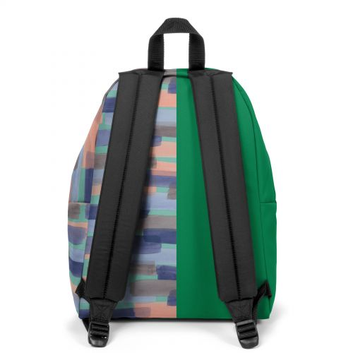 Re-built: Recycled Padded Pak'r® Grass Green/Large Strokes Backpacks by Eastpak - view 4