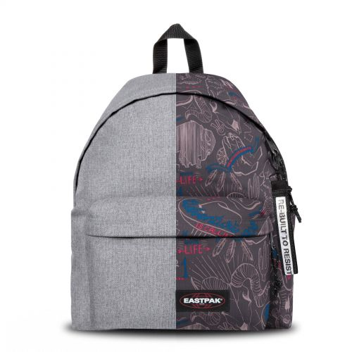 Re-built: Recycled Padded Pak'r® Sunday Grey/Red Wolves Backpacks by Eastpak - view 1