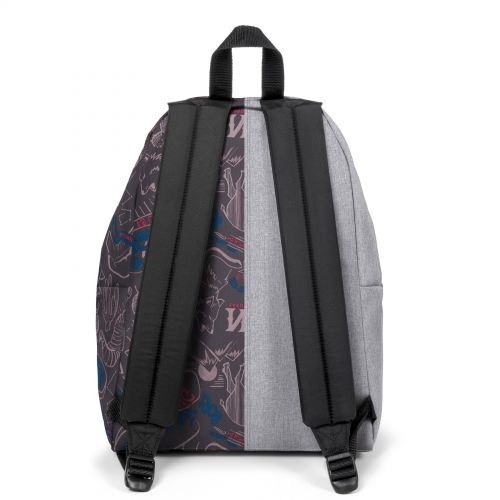 Re-built: Recycled Padded Pak'r® Sunday Grey/Red Wolves Backpacks by Eastpak - view 4